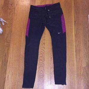 Nike pink and grey leggings women's xs dri fit